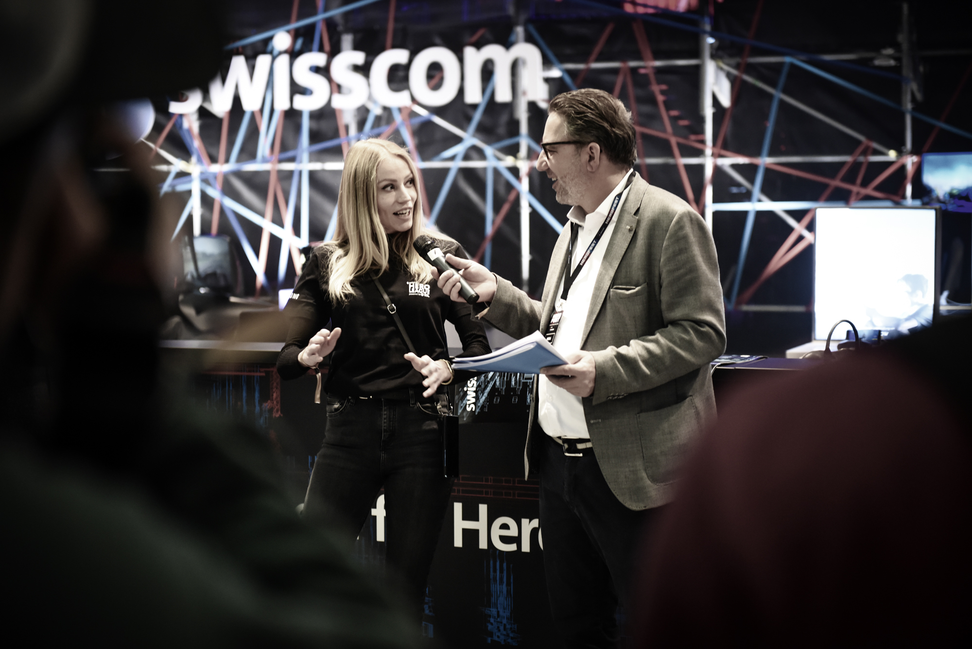 Nadine Jaberg of Swisscom giving an Interview